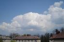 Cumulonimbus incus a cumulus mediocris